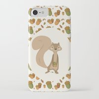 squirrel iPhone & iPod Cases featuring Squirrel by Jane Mathieu