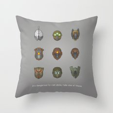 It's Dangerous to Raid Alone… Throw Pillow