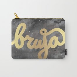 La Bruja Vibes in Gold Carry-All Pouch