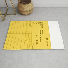 Library Card 797 Yellow Rug