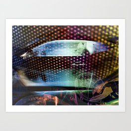 """""""Midnight Run: Cars With The Booming System"""" Art Print"""