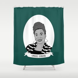Kimberlé Crenshaw Illustrated Portrait Shower Curtain