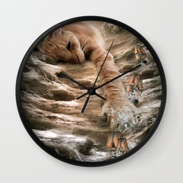 Cat Kraken Krakitten Wall Clock