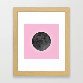 BLACK MOON + PINK SKY Framed Art Print
