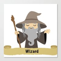 wizard Canvas Prints featuring wizard by dennisthebadger