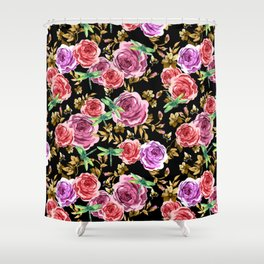 Insects and Flowers Shower Curtain