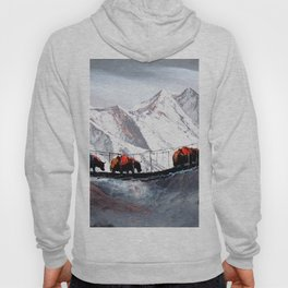 Herd Of Mountain Yaks Himalaya Hoody