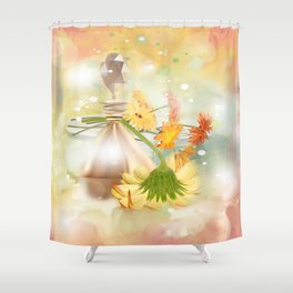 Duft der Blume - farbig Shower Curtain