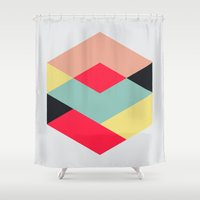 camus Shower Curtains featuring Hex series 3.1 by Three of the Possessed