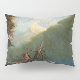 Old Man in the Mountain, White Mountains, New Hampshire landscape painting by Thomas Hill Pillow Sham