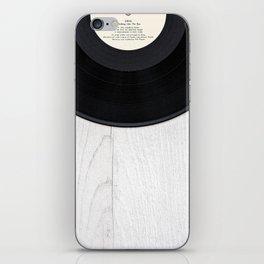 Black vintage vinyl record iPhone Skin