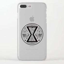 Black Widow Mandala Clear iPhone Case