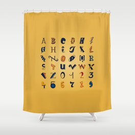 Eclectic Letters #2 Shower Curtain