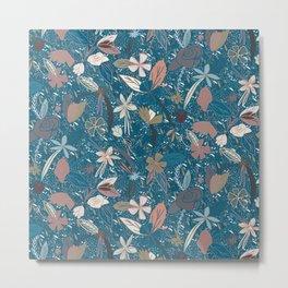 Flower seeds - Blue Metal Print