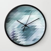 polygon Wall Clocks featuring Polygon by Boho déco