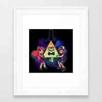 gravity falls Framed Art Prints featuring Gravity Falls by Miki Draw
