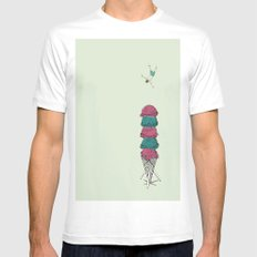 Ice Cream Diving  MEDIUM Mens Fitted Tee White