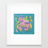 psychadelic Framed Art Prints featuring Psychadelic Pink by sophie gerl