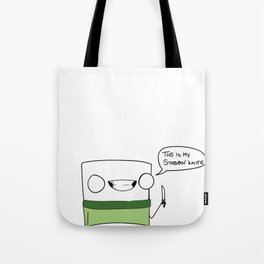 This is my stabbin' knife Tote Bag