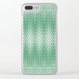 Cool Mint Green Frosted Geometric Design Clear iPhone Case