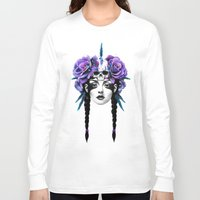 rose Long Sleeve T-shirts featuring New Way Warrior by Ruben Ireland