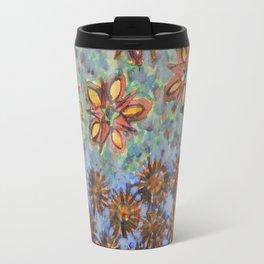 Asters and Paradise Flowers Travel Mug