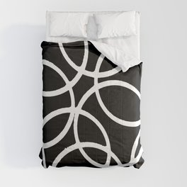 Interlocking White Circles Artistic Design Comforters