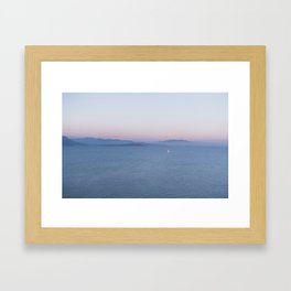 Sunset Gaeta, Italy Framed Art Print