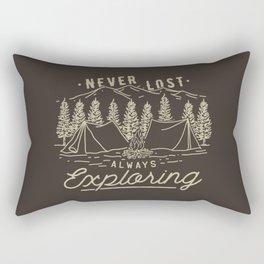 Never Lost Always Exploring Rectangular Pillow