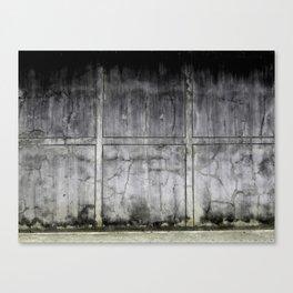 Concrete Wall Texture - Black & White Canvas Print