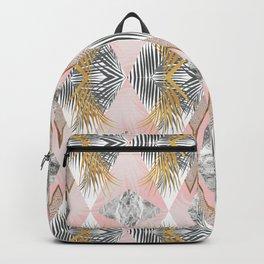 Marbled tropical geometric pattern II Backpack