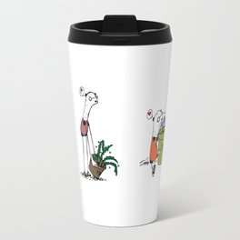 Bear and Weasel: The Love Fern Travel Mug