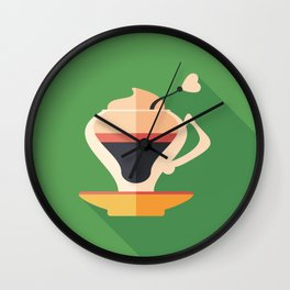 Cup of Latte Wall Clock
