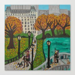 Autumn in Central Park Canvas Print
