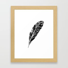 Watercolor feather Framed Art Print