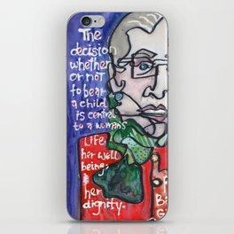 Justice Ruth Bader Ginsburg iPhone Skin
