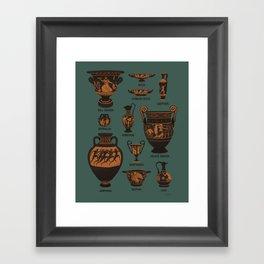 Ancient Greek Pottery Framed Art Print