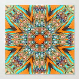 Star shape kaleidoscope with playful patterns Canvas Print