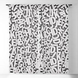 Learn the alfabet Blackout Curtain