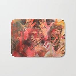 """Acrilic Canvas by Ignacio G. Azaña """"Help"""" Bath Mat"""