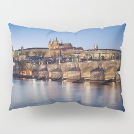 Prague Castle and Charles Bridge Pillow Sham
