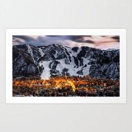 Aspen Skyline Art Print