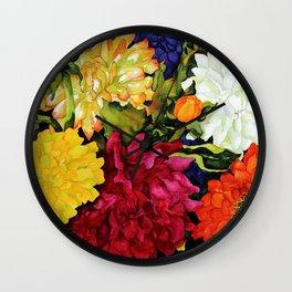Dahlia Delight Wall Clock