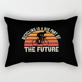 Bicycle -Bicycling is big part of future Rectangular Pillow