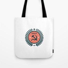 Hammer Sickle Communist Badge Tote Bag