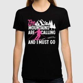 Snow I Know I Ski Like A Girl Try To Keep Up T-shirt
