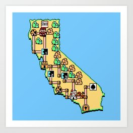 Super California Art Print