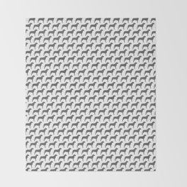 American Pit Bull Terrier Silhouette(s) Throw Blanket