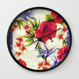 Paradise Party Wall Clock