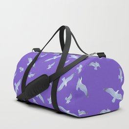 purple seagull day flight Duffle Bag